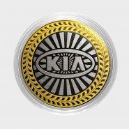 Kia, монета 10 рублей, с гравировкой, монета Вашего авто