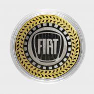 FIAT, монета 10 рублей, с гравировкой, монета Вашего авто