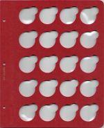 Лист для монет в капсулах диаметром 33 мм (красный)