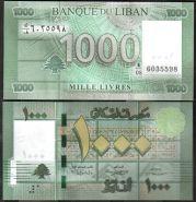 Ливан. 1000 ливров. 2012. UNC