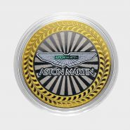 10 РУБЛЕЙ Aston Martin ЦВЕТНАЯ ЭМАЛЬ - СЕРИЯ АВТОМОБИЛИ МИРА - АНГЛИЙСКИЕ