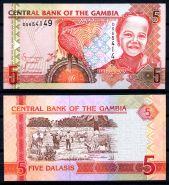 Гамбия 5 даласи 2006 (2013) UNC ПРЕСС