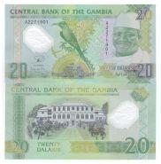 Гамбия - 20 Даласи 2015 UNC (полимер)