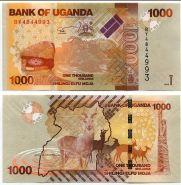 Уганда 1000 шиллингов 2015 UNC
