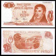 Аргентина - 1 Песо 1970 - 73 UNC