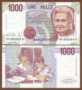 Италия - 1000 Лир 1990 UNC