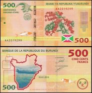 Бурунди 500 франков 2015 пресс UNC