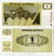 Словения 1 толар 1990 год UNC пресс
