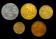 НАБОР 5 шт. 5-10-20-50 центов 2 ранда (рэнда) ЮАР флора фауна