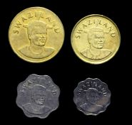 Свазиленд набор 4 монеты 5, 10  центов, 2, 5 эмалангени