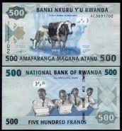 Руанда - 500 Франков 2013 UNC