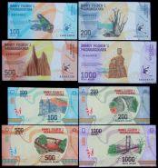 Мадагаскар. Набор 100, 200, 500, 1000 ариари. 2017. UNC