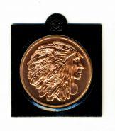 США Индейская медаль мира медь 1 унция инвестиционный слиток
