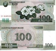 Северная Корея - 100 Вон 2008 UNC